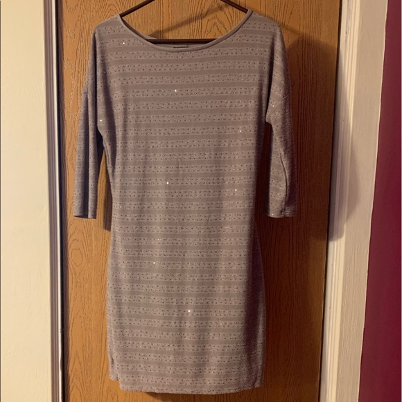 Express Dresses & Skirts - Tan Express long sleeved mini dress